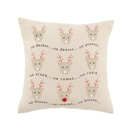 Mud Pie On Rudolph Pillow