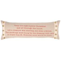 Mud Pie Night Before Christmas Pillow