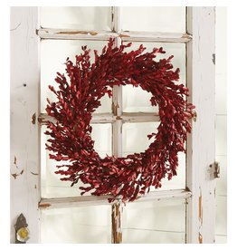 Mud Pie Red Myrtle Wreath