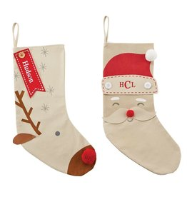 Mud Pie Santa Personalized Stocking