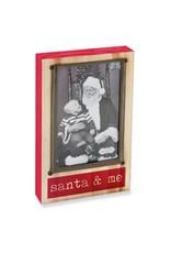 Mud Pie Block Santa and Me Frame