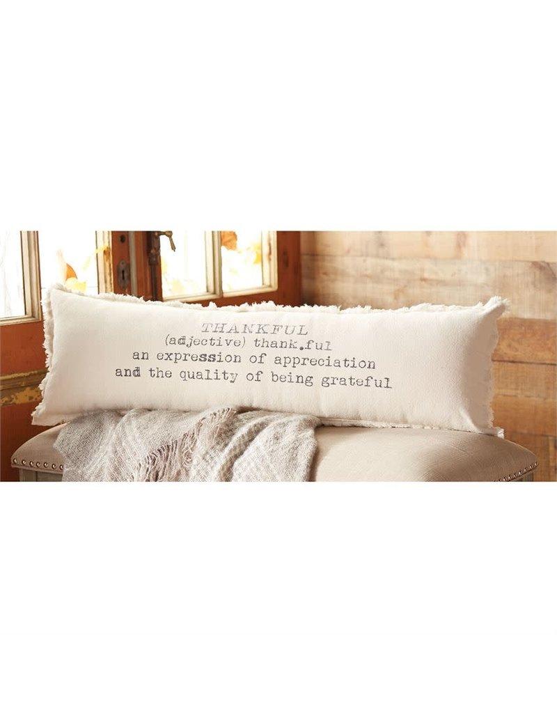 Mud Pie Definition Thankful Pillow