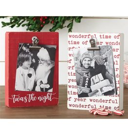 Mud Pie Red Xmas Block Clip Frame - Twas the Night