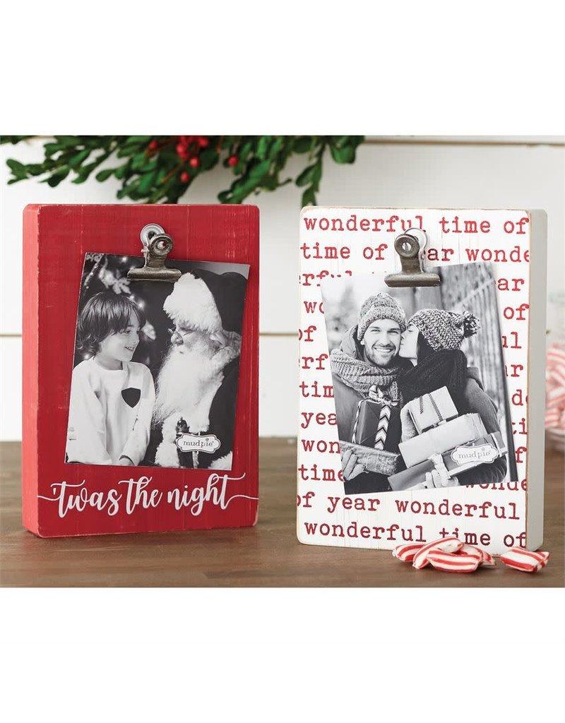 Mud Pie Red Xmas Block Clip Frame - Twas the Night