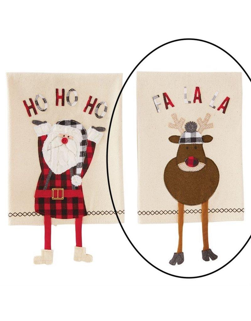 Buffalo Check Reindeer Dangle Leg Towel Oak Amp Willow