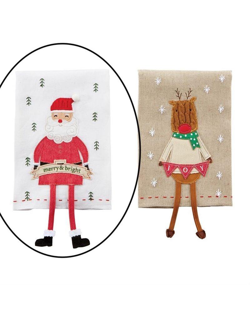 Mud Pie Santa Icon Dangle Leg Towel