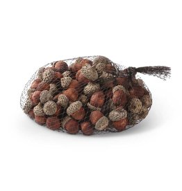 K & K Interiors Bag of 75 Brown Wood Acorns