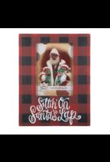 Glory Haus Sittin' on Santa's Lap Plaid Frame