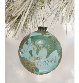 Bethany Lowe Designs Peace On Earth Globe Ornament