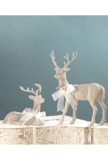 Bethany Lowe Designs Platinum Stag Laying Down