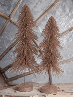 Bethany Lowe Designs Elegant Downswept Sisal Tree S/2
