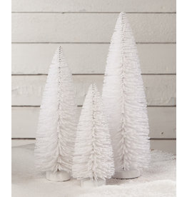 Bethany Lowe Designs Winter White Flocked Trees S/3
