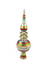 Bethany Lowe Designs Retro Striped Glass Treetopper