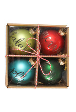 Bethany Lowe Designs Holiday Greetings Ornament Boxed set/4