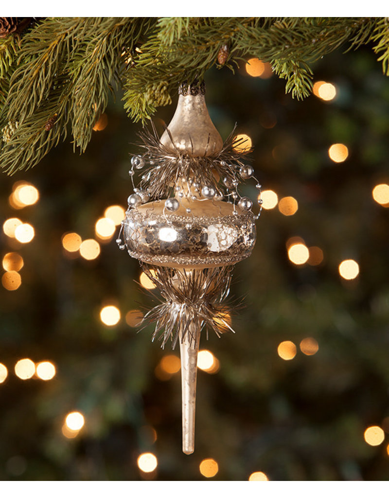 Bethany Lowe Designs Gold Top Spindle Ornament