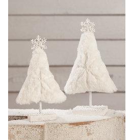 Bethany Lowe Designs Winter Fur Tree S/2