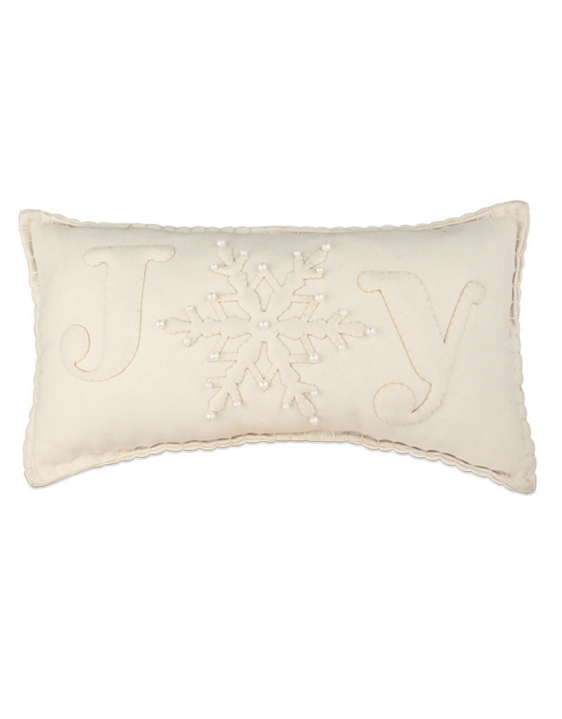 Bethany Lowe Designs Joy Applique Pillow