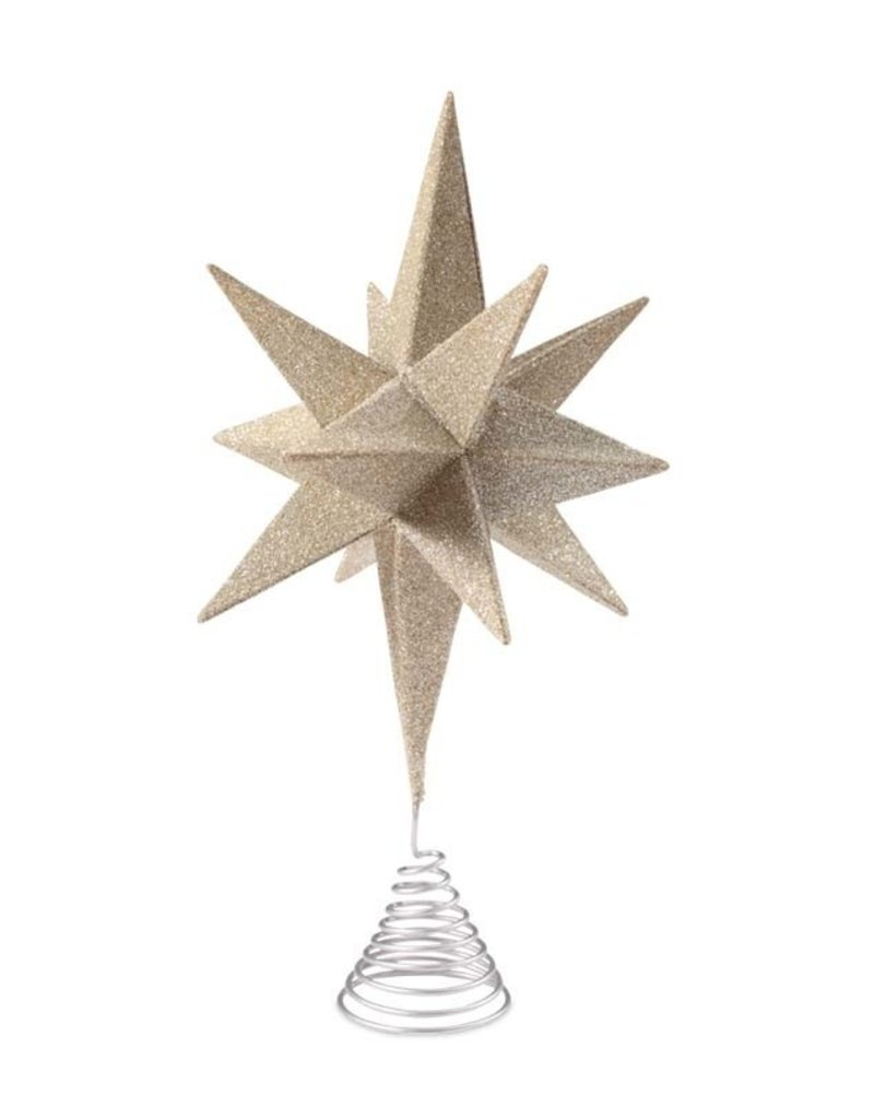 Bethany Lowe Designs Moravian Start Treetopper Silver