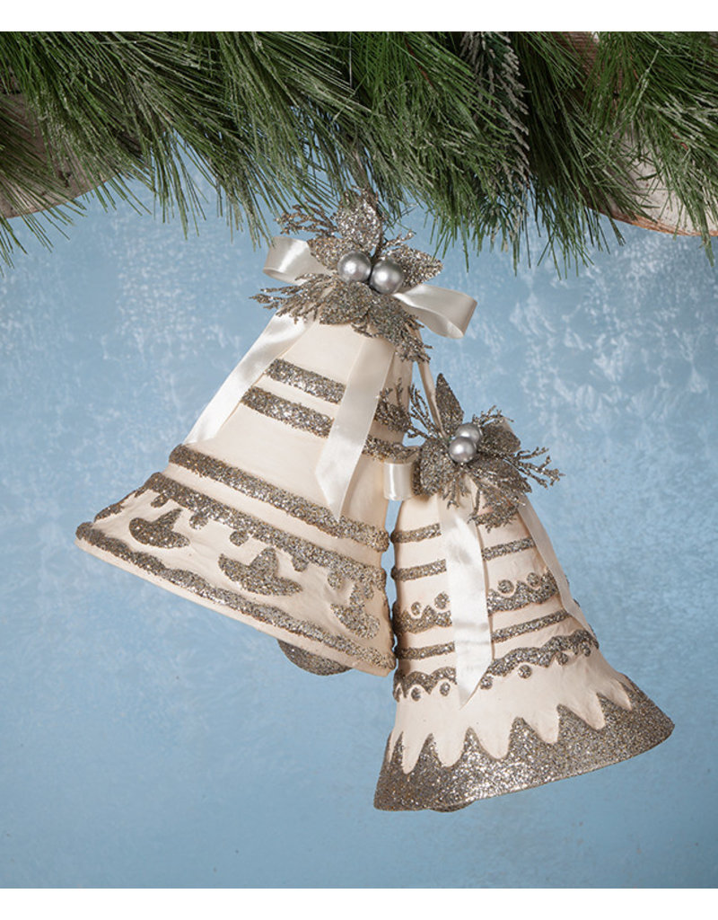 Bethany Lowe Designs Silver Bells PM S/2