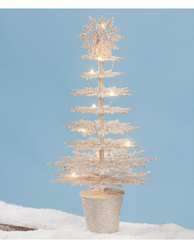 Bethany Lowe Designs Platinum Snowflake Tree