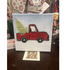 Kris Marks Christmas Truck Painting