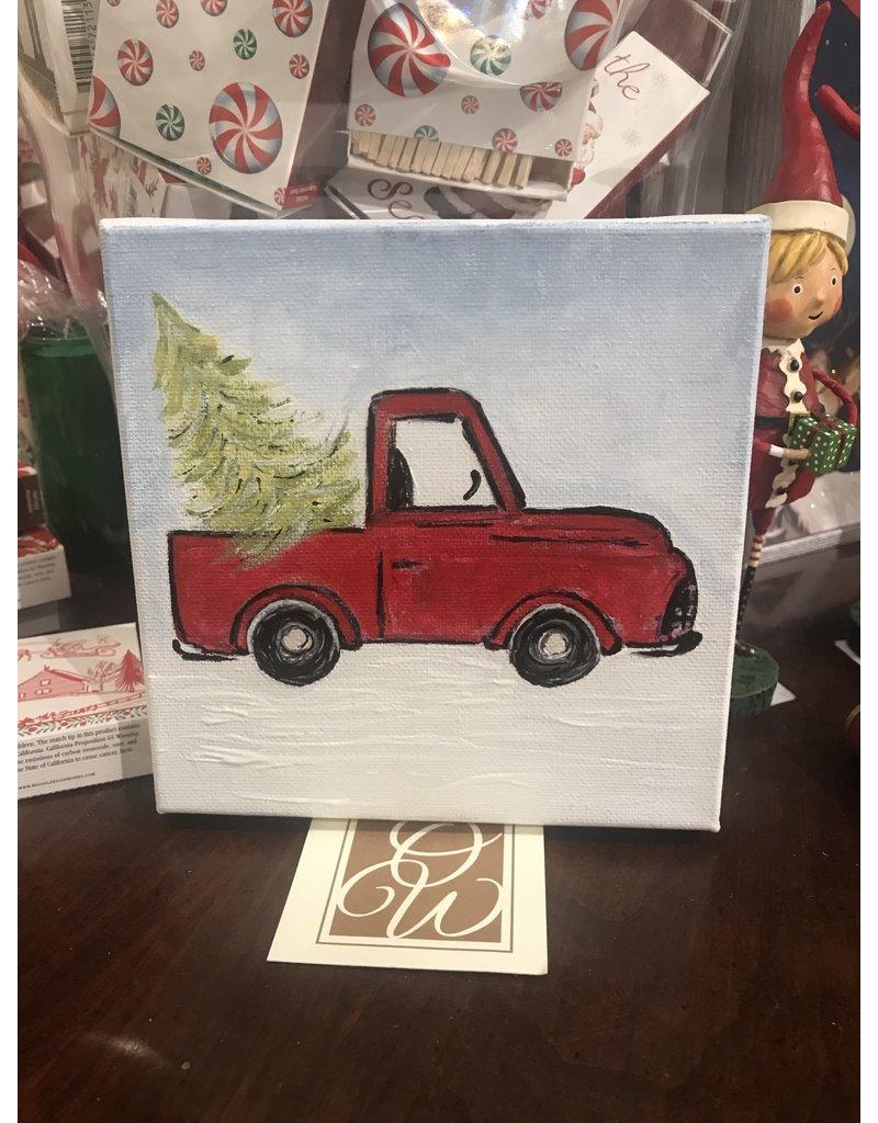 Kris Marks Christmas Truck Painting