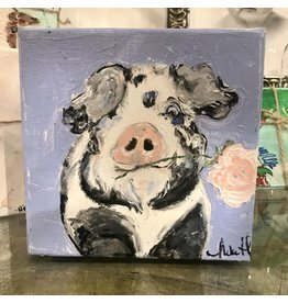 Studio 1905 Art 6 x 6 Elsie Pig Painting