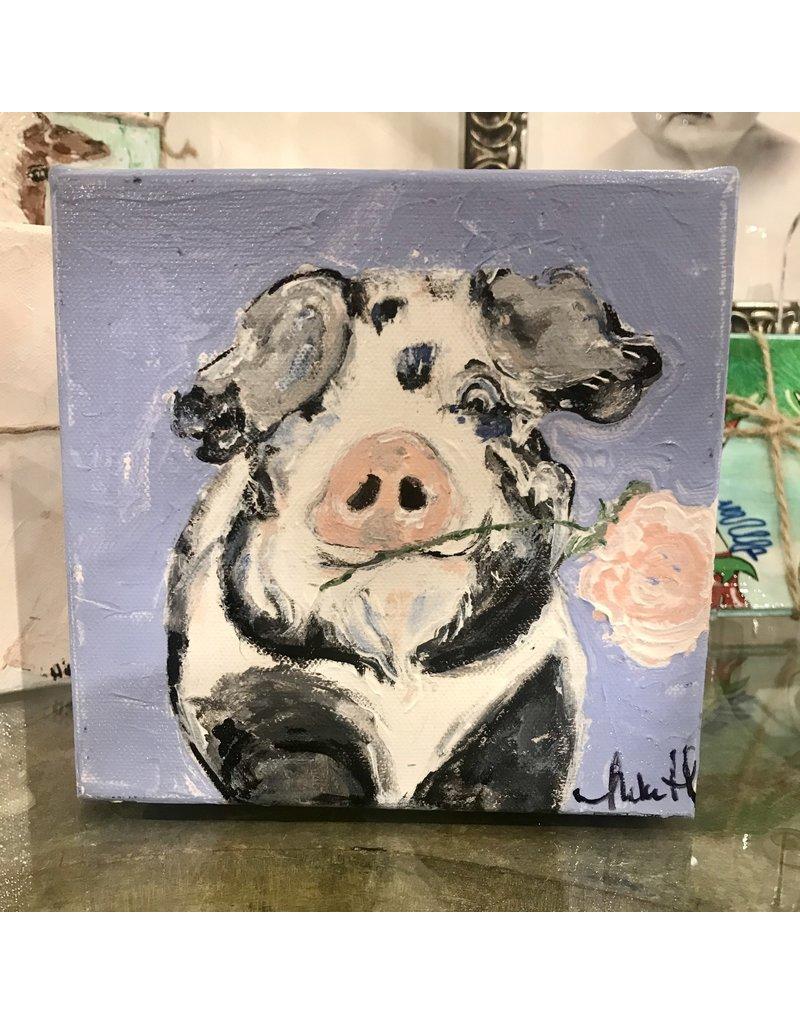 Studio 1905 Art 6 x 6 Elsie Pig Painting