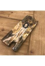 Studio 1905 Art Glad Tidings Angel on Wood