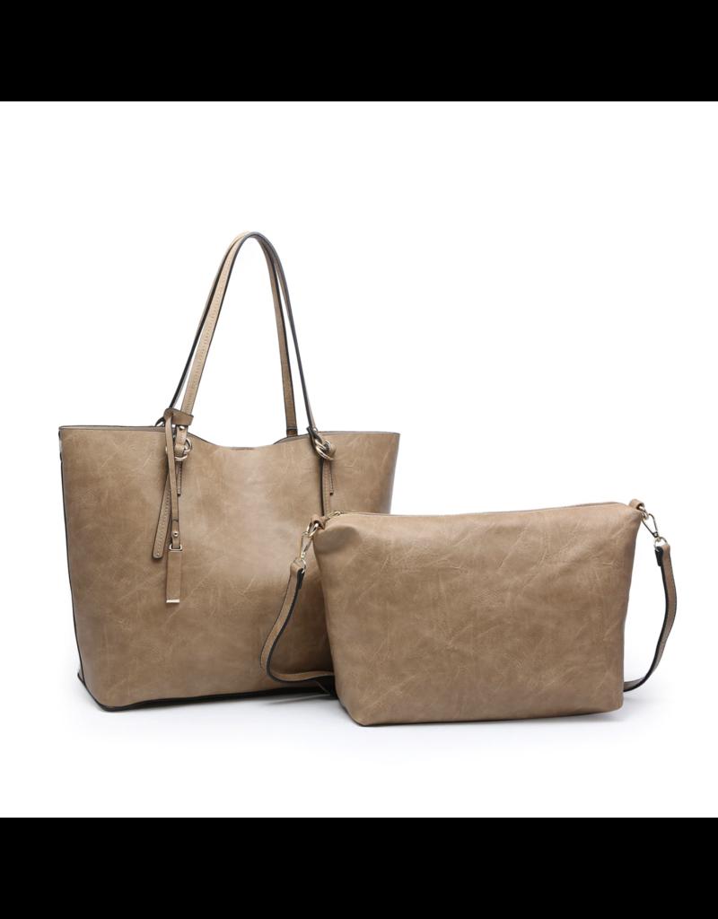 Buford Wholesale Handbag w/ Inner Bag Ivory