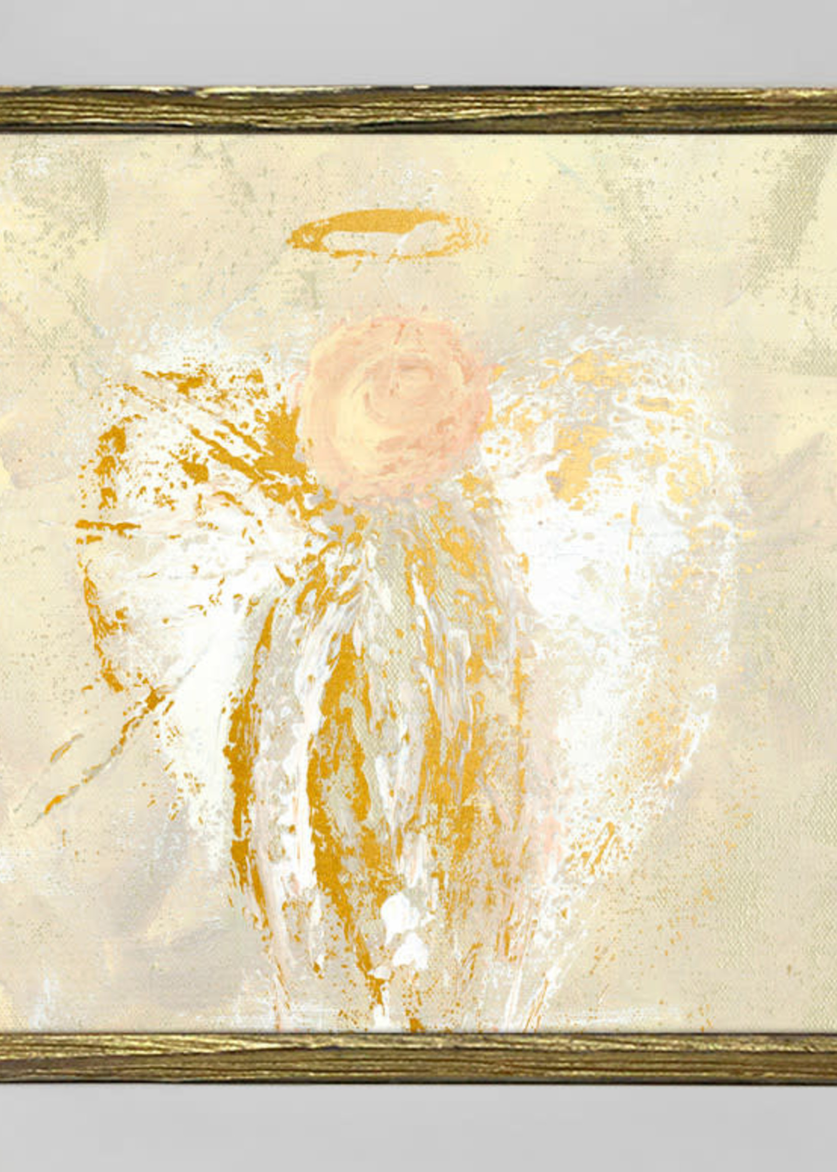 Greenbox Art Be Still Angel Gold Embellished Canvas 6x6
