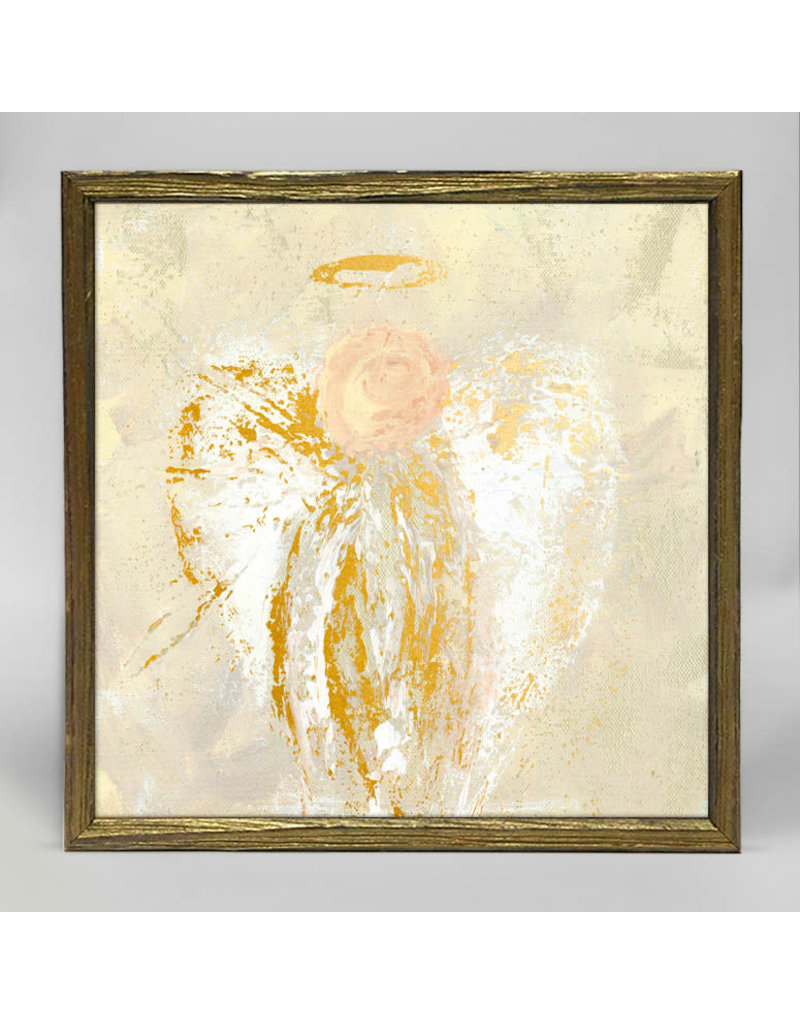 Greenbox Art Be Still Angel Gold Embellished Canvas 6x6