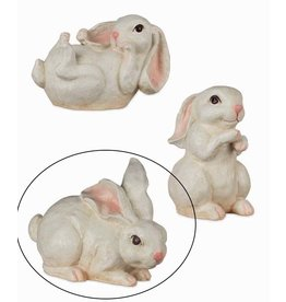 Bethany Lowe Designs Floppy Ear Bunny - Laying Down