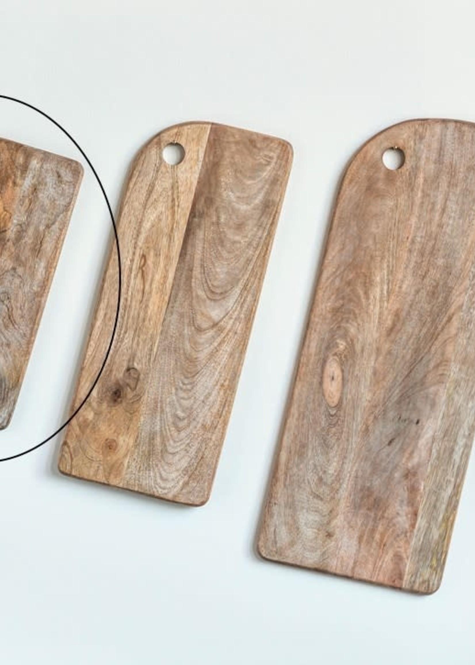 "Creative Co-Op 18"" x 8"" Mango Wood Cheese/Cutting Boards"