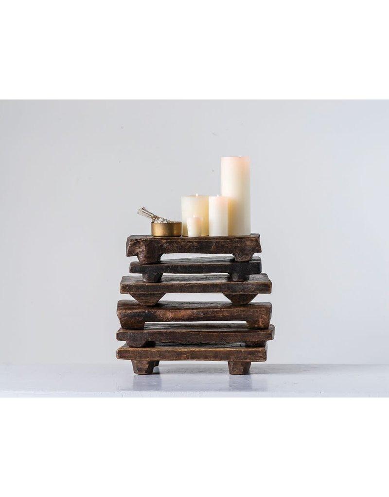 Creative Co-Op Found Decorative Wood Pedestal
