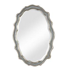 Uttermost Dorgali Mirror in Aged Slate Blue