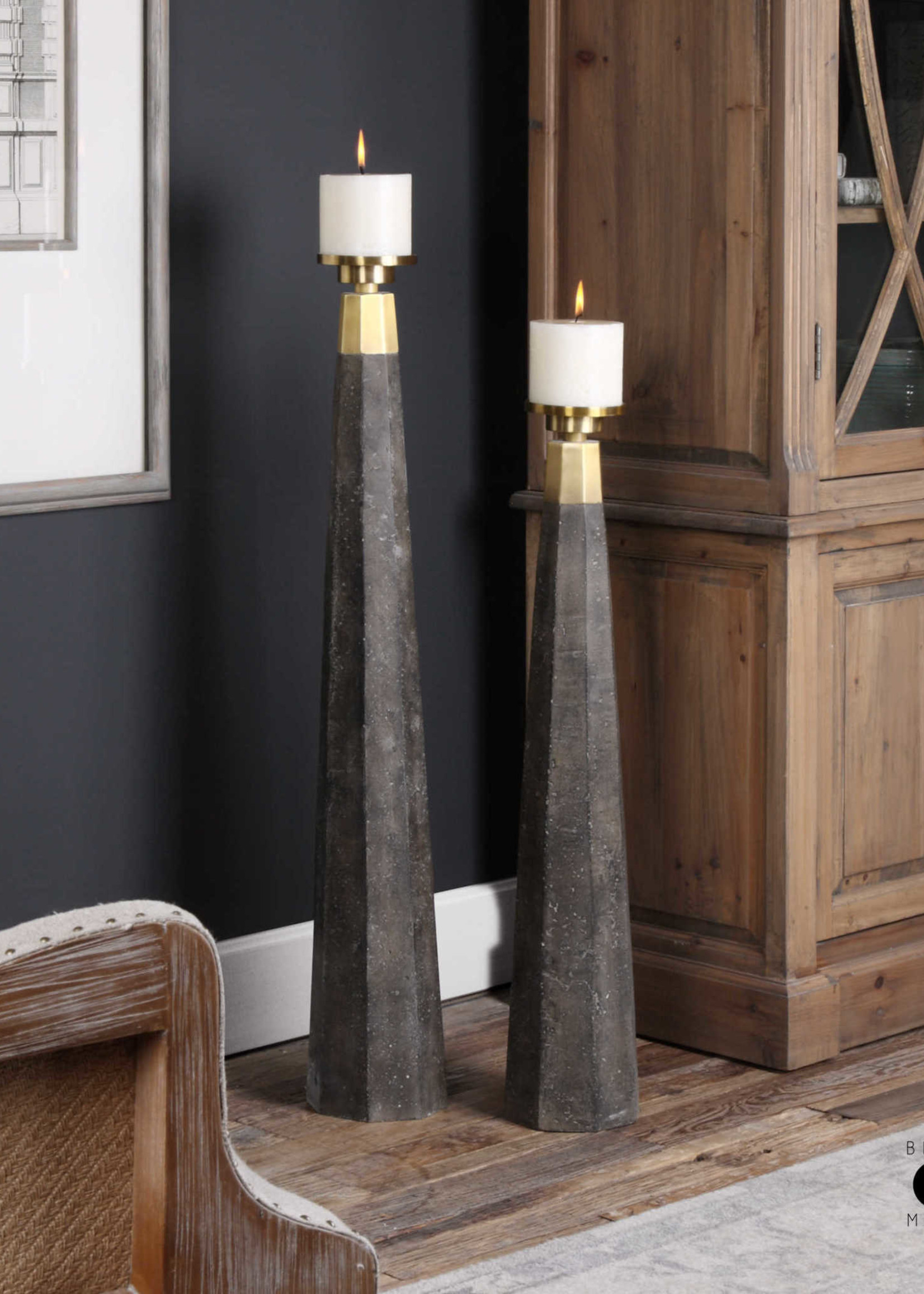 Uttermost / Revelation Pons Candleholder with Pillar Candle - Small
