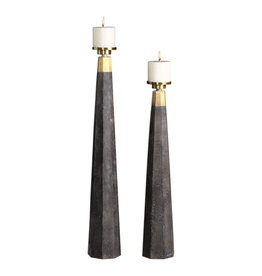 Uttermost / Revelation Pons Candleholder with Pillar Candle - Large
