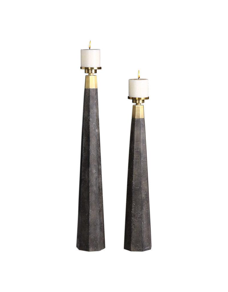 Uttermost / Revelation Pons Candleholder with Pillar Candle - Large
