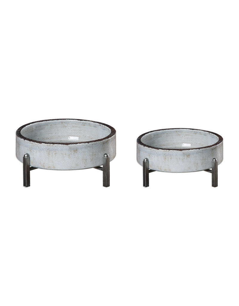 Uttermost / Revelation Essie Bowls in Antiqued Silver - Small