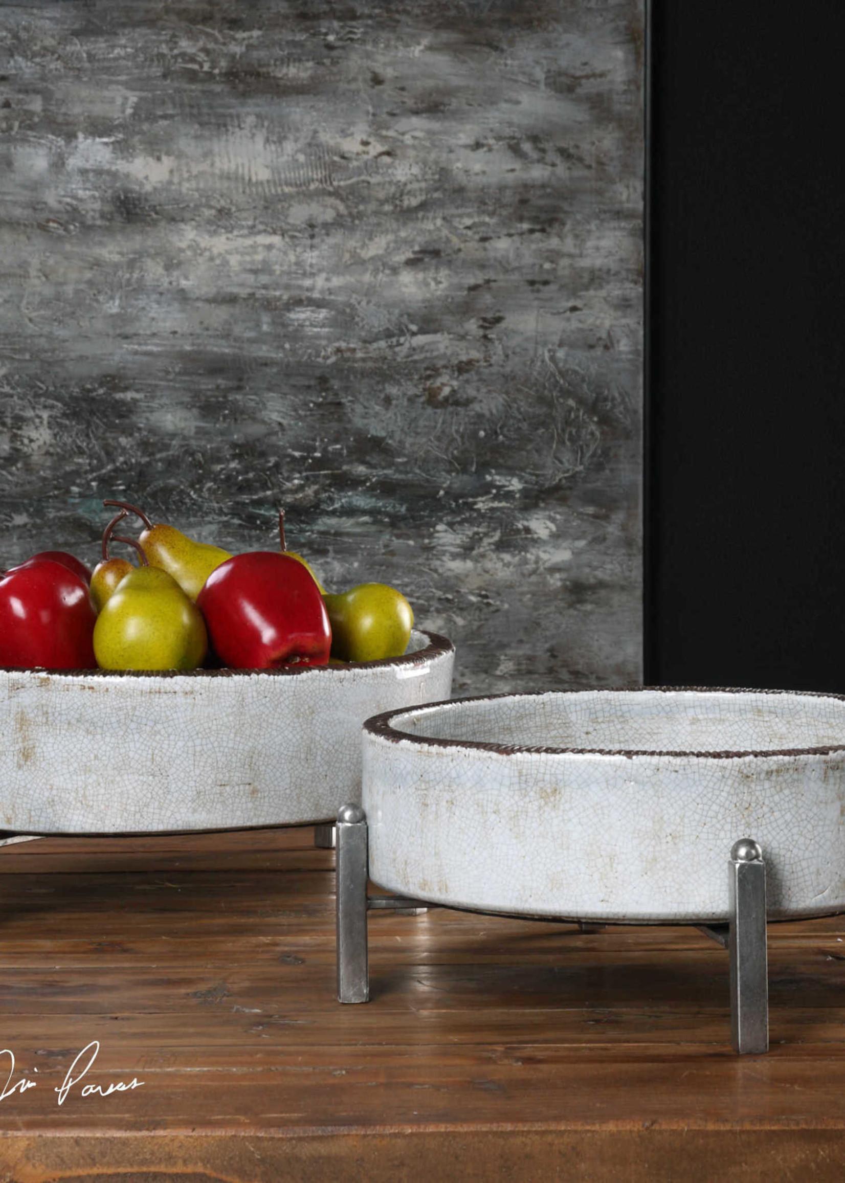 Uttermost / Revelation Essie Bowl in Antiqued Silver - Large