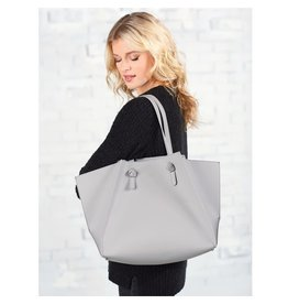 Mud Pie Shaya Tote Grey