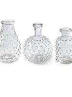 Mud Pie Hobnail Glass Bud Vase Sphere