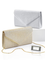 Giftcraft Glittered Polyester Evening Bag Gold