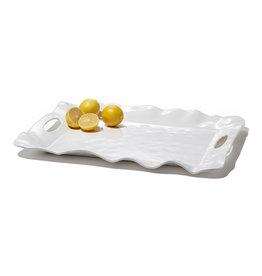 Beatriz Ball Vida Havana Rectangle Tray w/ Handles - white