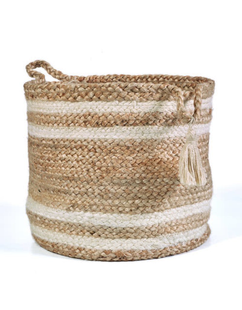 Ox Bay Trading Basket Striped - Small