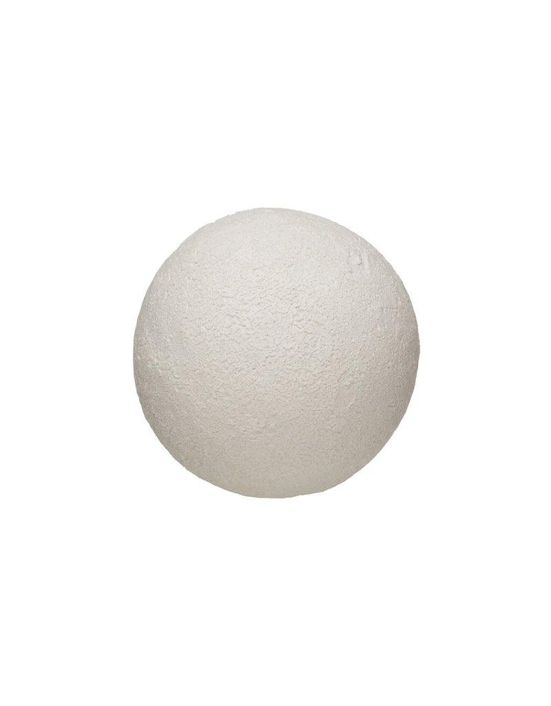 "Creative Co-Op 3.50"" Round Terra-Cotta Orb Distressed White Volcano Glaze"