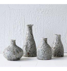 "Creative Co-Op 9"" Terra-cotta Vase Heavily Distressed Grey"