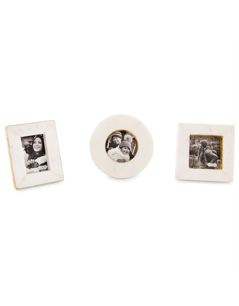 Mud Pie Mini Gold and Marble Frame Circle