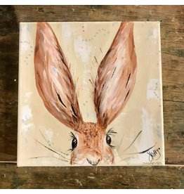 "Studio 1905 Art 6 x 6 ""Jack"" Rabbit Painting"